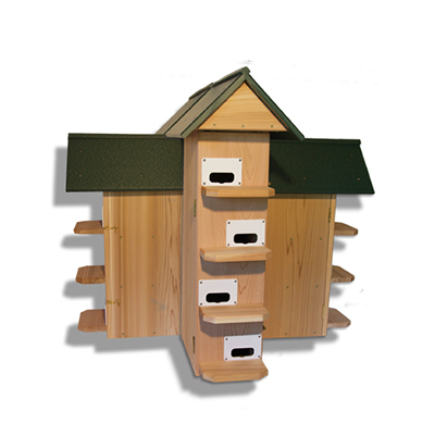 Troyer CEDAR T-14 Purple Martin House Poly Roof