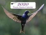 2020 Purple Martin Spiral Bound Wall Calendar